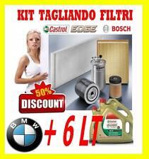 KIT TAGLIANDO BOSCH 4 FILTRI BMW 5 E61 520d TOURING 163cv +6LT CASTROL EDGE 5W30