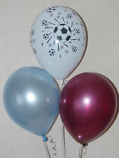 Claret & Blue Football Balloons - West Ham Colours Party Decorations x 15 Helium