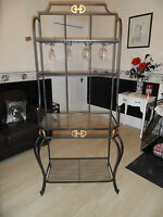 Stunning Wrought Iron Display Unit (Glass Shelf) REDUCED FROM £190 NOW ONLY £49