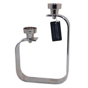 Aluminium 2 Arm Tea Light Holder