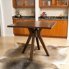Traditional Square Counter Height Wood Dining Table