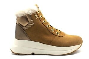 Women's Shoes Sneakers Wedge GEOX D04FPA Ankle Boots Platform Yellow Fashion