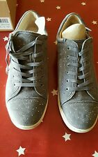New in Box UGG Womens Taya Constellation Trainers Grey Suede EU43