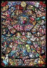 Tenyo 1000 Piece Jigsaw Puzzle Stained Glass Art Disney Pixar Heroine Collection