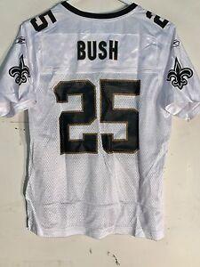 Reebok Women's NFL Jersey New Orleans Saints Reggie Bush White sz M