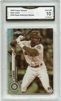 2020 Topps Chrome Kyle Lewis Sepia Refractor Rookie Card #186 Mariners GMA 10