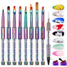 Rainbow Nail Brush Gel Brush Manicure Acrylic UV Extension Pen For Nail Painting