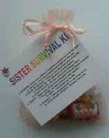 SISTER Survival Kit Christmas Birthday Keepsake Novelty Gift