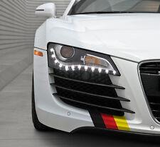 "(2xSets) 9"" German Flag Side Skirt Front Lip Decals VW Audi Porsche BMW Mercedes"