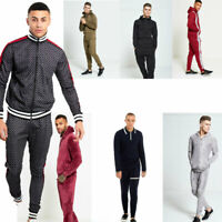 AARHON  MENS 1098 SKINNY FIT POUCH POCKET PULLOVER/POLO TRACKSUIT XS-XL