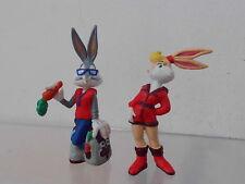 Bugs Bunny Looney Tunes 2 x Figur Bully land ca. 7,5-9,0 cm: mit Freundin Lola