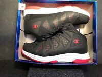 NOS NWT CHAMPION Black/White/Red LOW Athletic Sneakers Size 6 BBall