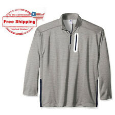 3XL RUSSELL Athletic Men's Big & Tall Poly Fleece 1/4 Zip Pullover, Heather Grey