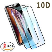 2-Pack Full Coverage Tempered Glass Screen Protector For iPhone X XS Max XR 8/8+