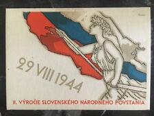 1945 Bratislava Czechoslovakia Liberation Postcard Cover Woman with Flag
