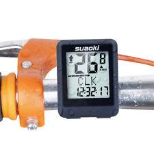 Wireless LCD Digital Cycle Computer Bicycle Bike Backlight Speedometer Odometers