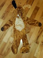 Brown Puppy Dog Infant Halloween Costume Size 9-18 Months Hooded Zip Up Gloves