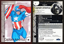 2013 Marvel Fleer Retro - CAPTAIN AMERICA Sketch Card - Walter Rice - 1/1