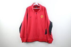 Vtg Nike Mens XL Manchester United Soccer Mini Swoosh Faded Pullover Sweatshirt
