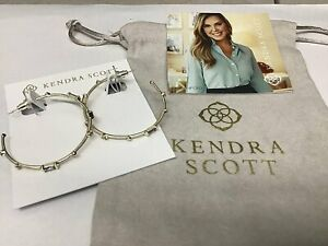Kendra Scott Rhoan Earrings in Gold Clear Crystal