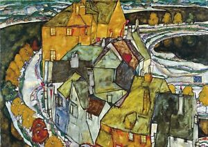 Egon Schiele - A4 size Abstract Deco Canvas Art Print Poster Unframed