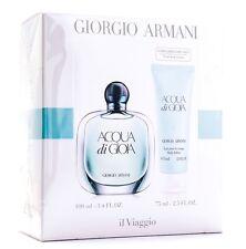 Armani Aqua Di Gioia Edp 100ml + Lotion 75ml Set  100%Original Sealed New in Box