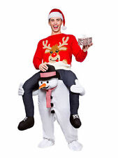 Snowman Mascot Costumes Carry Me Parade Piggy Back Ride On Fancy Dress Christmas