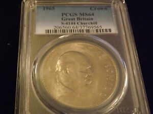 1965  Crown     Great Britain       PCGS MS 64