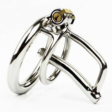 NEW Male Chastity Device Men Bird Lock Metal Belt Chrome Cock Cage