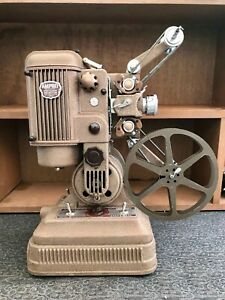 Restored 1946 Ampro Imperial 16mm Silent Film Projector w/ Bulbs & Case
