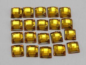 500 Acrylic Flatback Faceted Square Rhinestone Gem 6X6mm NO Hole Color Choice