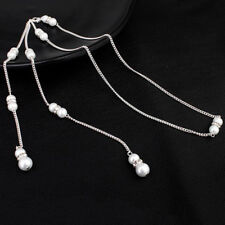 Back Drop Necklace Simulated Pearl Long Backless Dress Accessories Jewelry