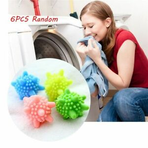 6x Eco Friendly Washing Machine Tumble Dryer Clothes Laundry Softener Balls UK