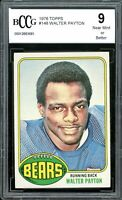 1976 Topps #148 Walter Payton Rookie Card BGS BCCG 9 Near Mint+