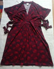 LEONA EDMISTON *LEONA* Burgundy Red & Black Printed A-line Dress, Size 20 NWOT