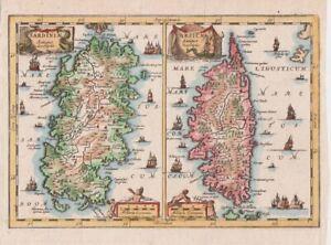 1682 Fine Cluver Maps of Sardinia and Corsica