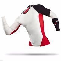 New Men's REEBOK Crossfit LS Midweight Compression Shirt- B87914 Black White Red
