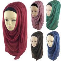 New Plain Hijab Scarf Fashion Large Maxi Shawl Headscarf Womens ladies