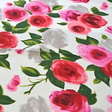 1m Marilyn Rojo-Michael Miller Tela Por Metro Flores Rosas Rojas