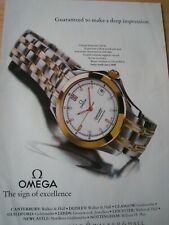 OMEGA SEAMASTER 120M WATCH POSTER ADVERT READY TO FRAME A4 SIZE FILE L