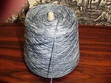 Rayon/Silk 85/15 Spaced Dyed 1050 YPP Ratine Texture 1 cone 1.5 lbs .Blue Tonal