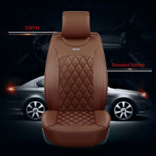 Deluxe Edition Car Seat Cover Cushion 5-Seats Front+Rear Breathable PU Leather