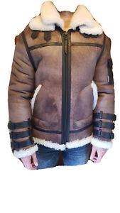 Boda Skins Luxury Shearling Lederjacke Braun L