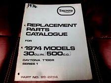 ORIGINAL MERIDEN TRIUMPH T100R DAYTONA 500cc  PARTS BOOK MANUAL 1974 99-2254