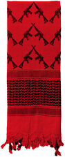 RED Crossed Rifles Shemagh Face Veil Shimagh Desert Arab Scarf ROTHCO 8737