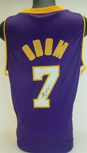 Lamar Odom Signed Los Angeles Lakers Jersey (JSA COA) #4 Overall Pick 1999 Draft