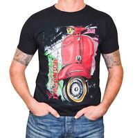 T-Shirt  für VESPA Roller Oldschool Fan´s - Gr. XL Herren - schwarz