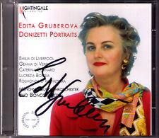 Edita GRUBEROVA Signiert DONIZETTI PORTRAITS Emilia di Liverpool Gemmy Vergy CD