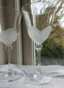 J G Durand Florence Satine Pair of Wine Glasses, 17cm