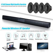 Wireless BT4.0 Soundbar Speaker TV Home Theater 3D Bass Line Remote Control